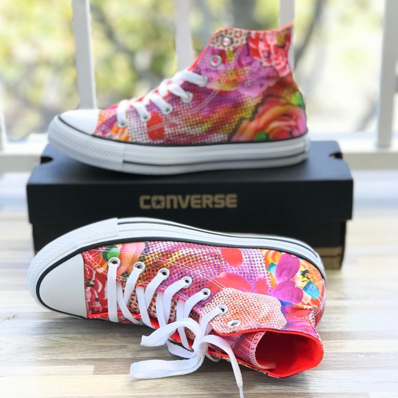 NWT Converse Ctas Digital Floral Pink HT W AUTHENT ea27f7615